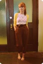cardigan - hanky panky t-shirt - pants