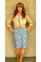 vintage blouse - vintage top - vintage skirt - vintage boots
