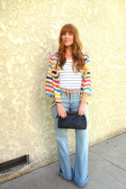 high waist joes jeans - striped Jcrew top - striped blouse