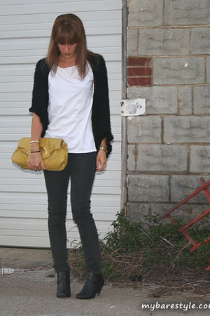 American Apparel shirt - Forever21 jeans - melie bianco purse - seychelles shoes