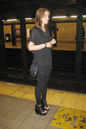 black alternative shirt - black Seventh Door leggings - black Jeffrey Campbell s