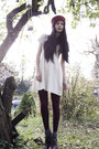 Crimson-oxford-dinsko-shoes-white-knit-pixie-knitwear-dress