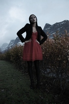 KappAhl blazer - Only dress - Cubus leggings - JSFN shoes
