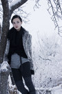 Heather-gray-diy-shorts-black-h-m-sweater-periwinkle-stradivarius-jacket-d