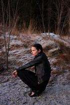 Sara Kelly dress - Cubus jacket - random tights - Only socks - Market accessorie