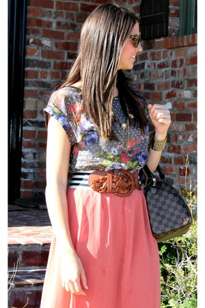 rayban sunglasses - Topshop top - Forever21 skirt