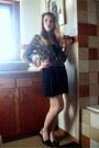 Black-forever-21-dress-pink-dressbarn-cardigan-black-shoes-blue-thrifted-b