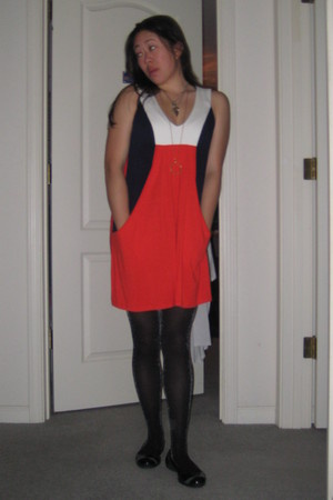 forever 21 dress - Express tights - Puma shoes
