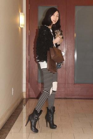black bbabbi leggings - black bbabbi cardigan