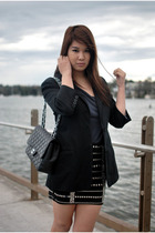 Sportsgirl top - Forever New blazer - One Way skirt - Chanel accessories