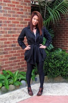 SISI jacket - Witchery t-shirt - American Apparel skirt - Urban Orginals shoes