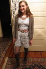Salvation-army-dress-ralph-lauren-shirt-thrifted-belt-goodwill-cardigan-