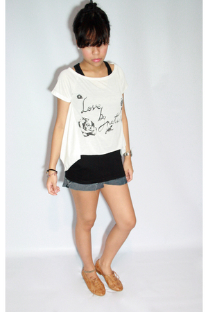 Dark White top - Dark White shorts - Jeffrey Campbell shoes
