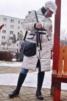 XIAOYAOLONG coat - Bumper boots - Island bag