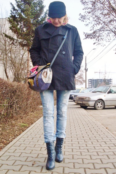 HIGHFILD jacket - H&M boots - Amisu jeans - NAS BAG bag