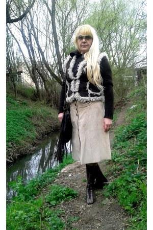 tan skirt - tan Vero Moda skirt