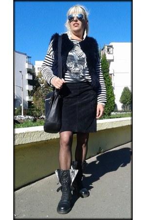 black leather claire de jeans wear skirt