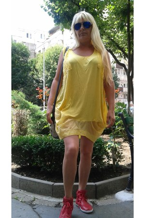 yellow chic dress Otto Mode dress