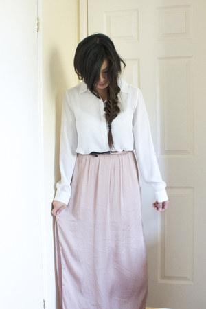 maxi skirt River Island skirt - chiffon blouse Primark shirt