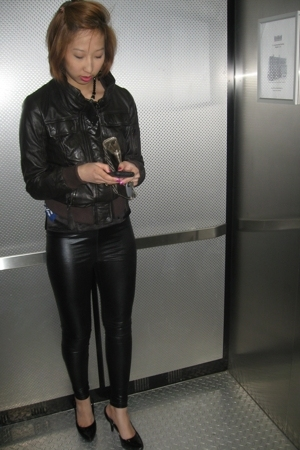 Zara jacket - Club Monaco - Top Shop pants - Aldo shoes - Armani Exchange purse