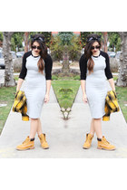 boots Timberlands boots - baseball dress Forever 21 dress