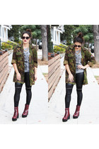 camo jacket Brooklyn Flea jacket - platforms Shellys London boots