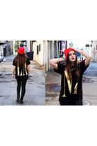 shirt Forever 21 shirt - boots Dr Martens boots - beanie Forever 21 hat
