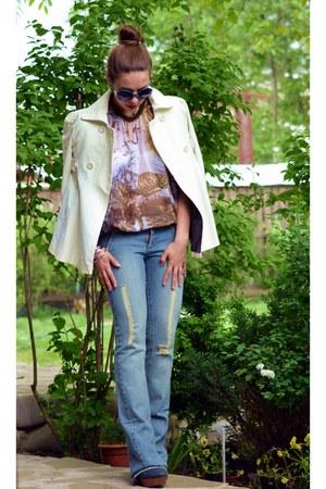 Mango jeans - cavali blouse