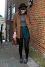 Brown-car-coat-dorothy-perkins-coat-black-bowler-h-m-hat