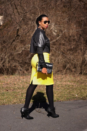 pencil DIY skirt - Givenchy boots - DIY top