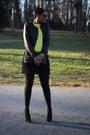 Black-fringed-robbi-nikki-skirt-booties-schutz-boots-black-acne-jacket