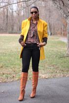 DIY coat - Michael Kors boots - skinny J Brand jeans - vivienne westwood shirt