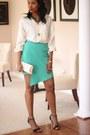 Burberry-shirt-leather-clutch-diy-bag-asymmetric-diy-skirt