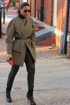 cocoon DIY coat - ankle boots balenciaga boots - skinny leather DIY pants