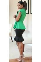peplum Givenchy skirt - peplum DIY top - Alexander Wang heels
