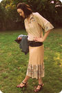 Beige-vintage-dress-brown-xhiliration-shoes-brown-sunglasses-brown-suzanne