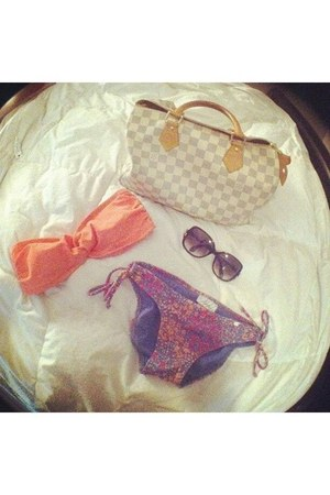 Louis Vuitton bag - Louis Vuitton sunglasses - PacSun swimwear