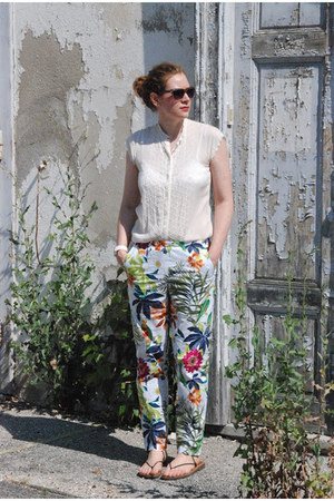 asos watch - H & M sunglasses - Self Made pants - vintage blouse