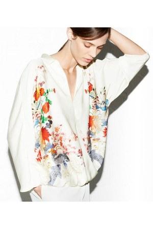 printed Zara blazer