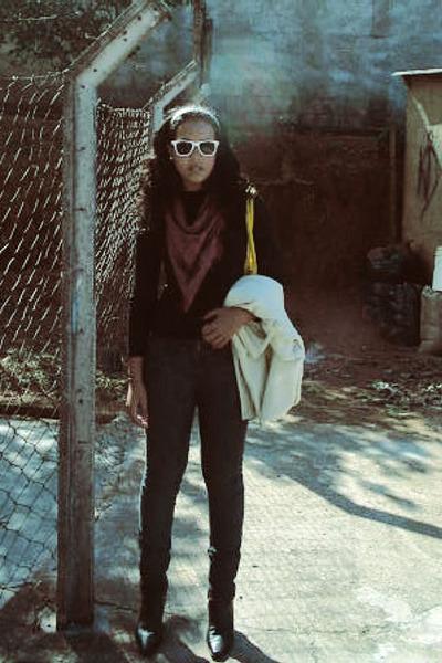 triton blouse - Beb accessories - Renner accessories - vintage boots - Renner ja