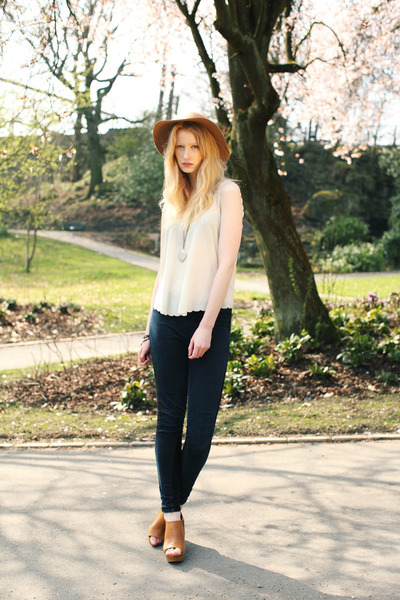 camel floppy hat Topshop hat - neutral Topshop top