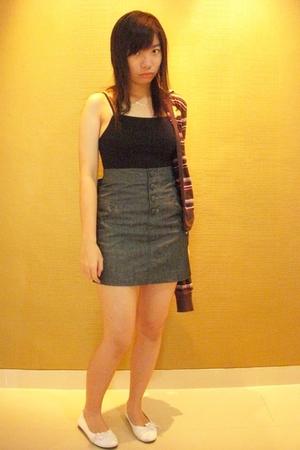 top - Glitters skirt - mcky jacket - shoes