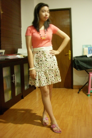 Hang Ten shirt - skirt - Charles & Keith shoes - bracelet - necklace