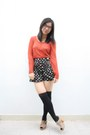 Black-glitz-shorts-black-unbranded-socks-carrot-orange-mango-top-black-unb