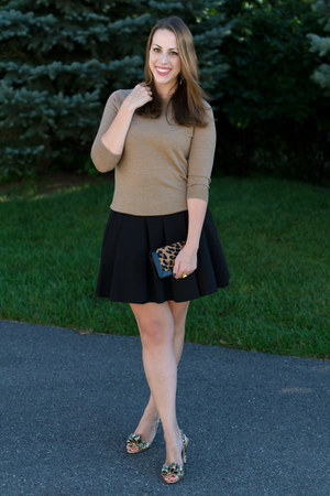 neoprene t by alexander wang skirt - glitter kate spade shoes