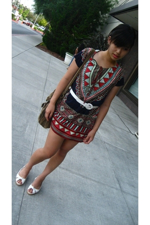 Forever 21 dress - shoes - American Eagle purse - belt