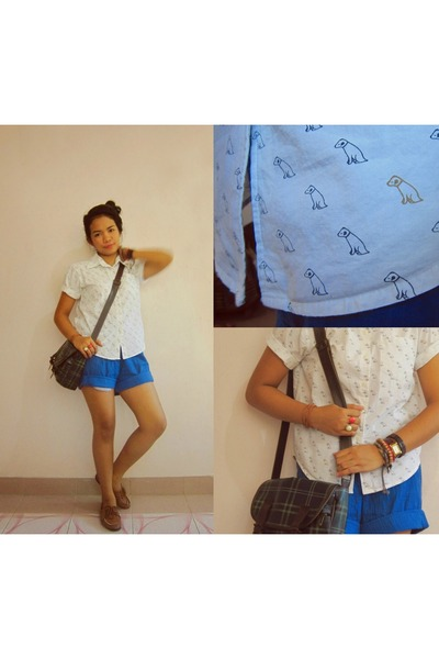thrifted bag - Thrifted Dior shorts - from my Brothers Closet top
