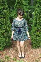 green Francescas Collection dress - black Urban Outfitters shoes - brown Grandma