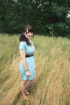 blue Francescas Collection dress - black Urban Outfitters belt - brown Target sh
