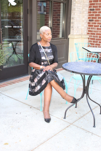 hsn bag - black Marshalls dress - Macys heels